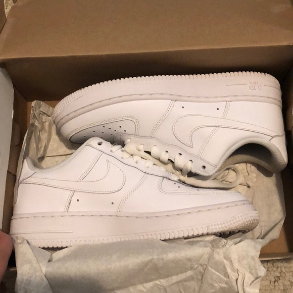 Low Top All White Air Force Gs